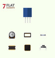 flat icon appliance set of destination hdd cpu vector image vector image