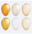 gold balloon set vector image vector image