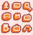 Grid icons for media vector image vector image