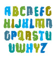 Handwritten multicolored uppercase letters vector image vector image