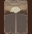 highway vintage colorful poster vector image