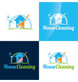 house cleaning icon and logo vector image vector image
