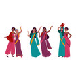 indian women in traditional national sari clothes vector image