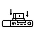 internet gamepad icon outline style vector image vector image