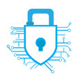 isolated lockpad on a network cyber security vector image