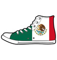 isolated modern sneakers with Mexico flag vector image vector image