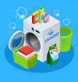isometric laundry service vector image vector image