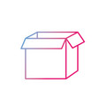 line square box package open design vector image vector image