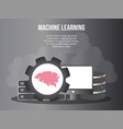 machine learning concept design template vector image vector image