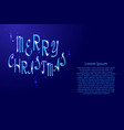 merry christmas lettering holiday calligraphy vector image