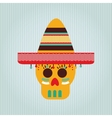 mexican culture icon design vector image vector image