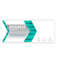 modern green arrow design business banner i vector image vector image