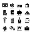 Money finance icons black vector image vector image