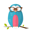 Owl with Glasses Paper Isolated on White Bac vector image
