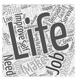 Personal Life Improving to Grow Word Cloud Concept vector image vector image