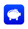 piggy bank icon digital blue vector image