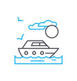private yacht thin line stroke icon vector image vector image