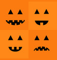 pumpkin smiling sad face emotion set big triangle vector image