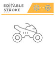 quad bike line icon vector image