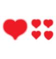 red heart halftone dots logo set love insignia vector image