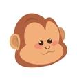 serious monkey cartoon icon vector image vector image