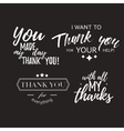 Set of badges with thank you vector image vector image