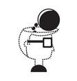 speech bubble design concept vector image vector image