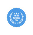 united nations day background icon history vector image vector image