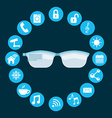 wearable technology vector image