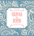 wedding invitation and announcement card vector image vector image