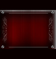 white lace lines on a red background vector image vector image