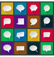White paper speech icons vector image vector image