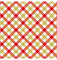 white red beige check plaid fabric texture vector image vector image