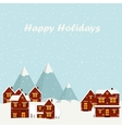 Wonderful winter morning of Christmas vector image