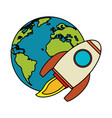 world rocket spaceship image vector image vector image