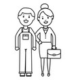young businesswoman with constructor builder vector image vector image