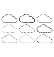 cloud from different lines circles squares vector image