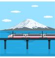 train on the bridge vector image