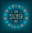 2019 text christmas card happy new year holiday vector image