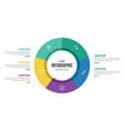 5 points circular infographic element template vector image