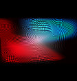 abstract red blue circle mesh wave light on black vector image vector image