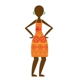 african woman figure icon vector image vector image