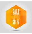 autumn sale icon in hexagonal shape vector image