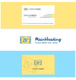 beautiful window logo and business card vertical vector image