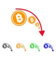 bitcoin reduce trend icon vector image vector image