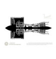 black silhouette ot airplane jet engine vector image vector image