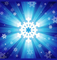 Blue color burst of light with snowflakes vector image vector image