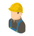 builder engineer icon isometric 3d style vector image