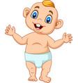 cartoon baby boy learning to walk vector image vector image