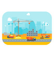 cartoon construction building vector image vector image